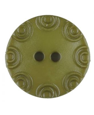 Polyamide button, round, 2 holes - Size: 13mm - Color: green - Art.No. 216710