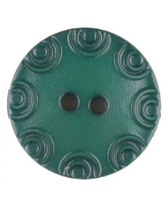 Polyamide button, round, 2 holes - Size: 13mm - Color: green - Art.No. 216711