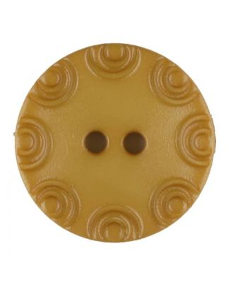 Polyamide button, round, 2 holes - Size: 13mm - Color: yellow - Art.No. 216716