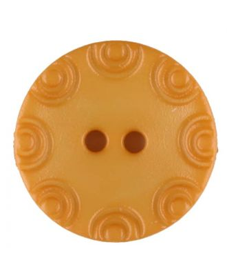 Polyamide button, round, 2 holes - Size: 13mm - Color: yellow - Art.No. 216717