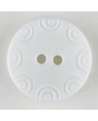 Polyamide button, round, 2 holes - Size: 13mm - Color: white - Art.No. 211706