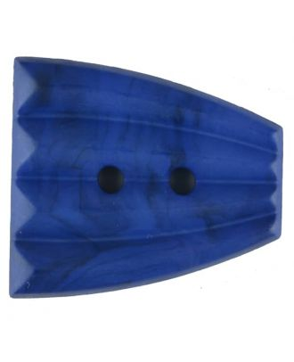 Polyamide button, fan-shaped, 2 holes - Size: 38mm - Color: blue - Art.No. 376751