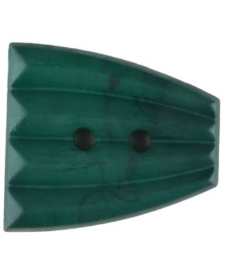 Polyamide button, fan-shaped, 2 holes - Size: 38mm - Color: green - Art.No. 376755