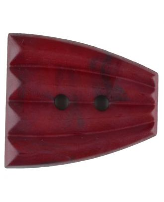 Polyamide button, fan-shaped, 2 holes - Size: 38mm - Color: wine red - Art.No. 376757