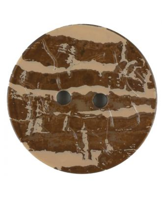 Polyamide button, round, 2 holes - Size: 20mm - Color: brown - Art.No. 310945