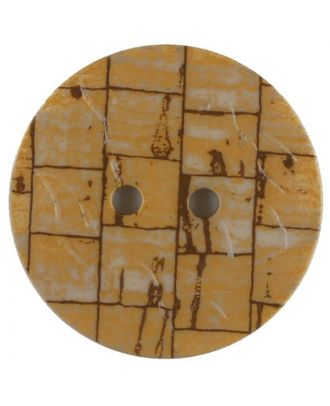 Polyamide button, round, 2 holes - Size: 23mm - Color: beige - Art.No. 331054