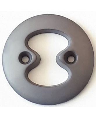 polyamide button with 2 holes - Size: 34mm - Color: grey - Art.No. 378712