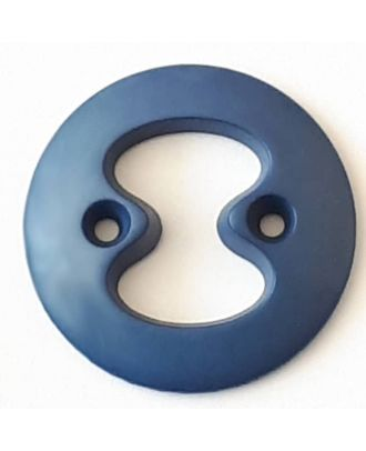 polyamide button with 2 holes - Size: 34mm - Color: blue - Art.No. 378716