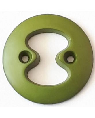 polyamide button with 2 holes - Size: 34mm - Color: green - Art.No. 378719