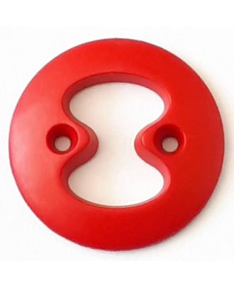 polyamide button with 2 holes - Size: 34mm - Color: red - Art.No. 378721