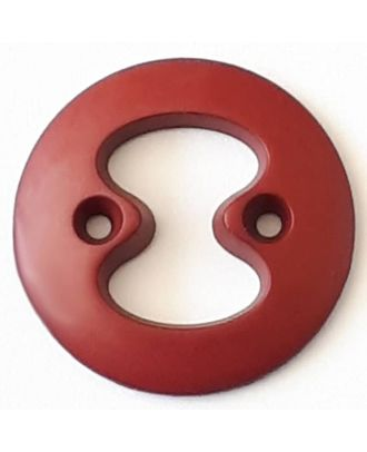 polyamide button with 2 holes - Size: 34mm - Color: red  - Art.No. 378722
