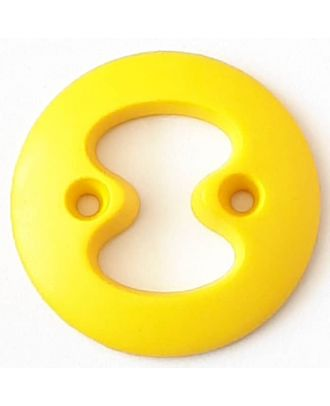 polyamide button with 2 holes - Size: 34mm - Color: yellow - Art.No. 378723