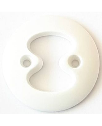 polyamide button with 2 holes - Size: 34mm - Color: white  - Art.No. 370795