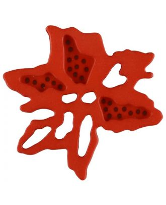 flower button with 2 holes - Size: 34mm - Color: red - Art.No. 377722