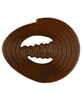 polyamide button with strip - Size: 30mm - Color: brown - Art.No. 347715