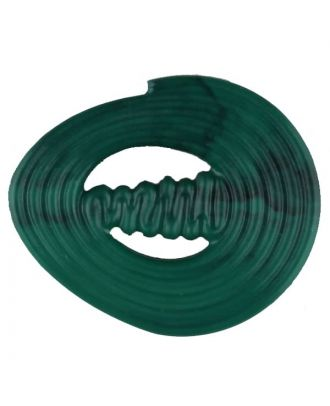 polyamide button with strip - Size: 30mm - Color: green - Art.No. 347720