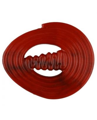 polyamide button with strip - Size: 30mm - Color: red - Art.No. 347722