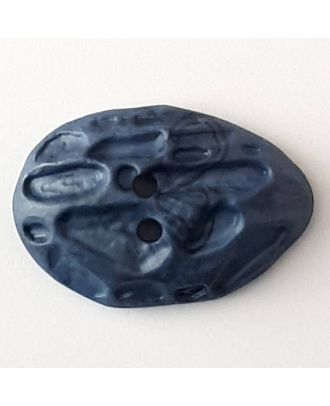 polyamide button with 2 holes - Size: 40mm - Color: blue - Art.No. 408704