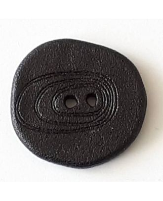 polyamide button with 2 holes - Size: 18mm - Color: black - Art.No. 281086