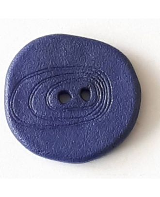 polyamide button with 2 holes - Size: 23mm - Color: blue - Art.No. 338717