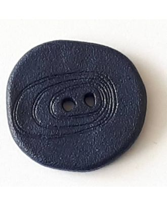 polyamide button with 2 holes - Size: 23mm - Color: navy blue - Art.No. 338718