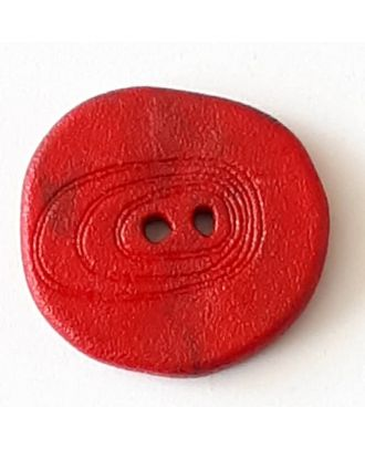 polyamide button with 2 holes - Size: 28mm - Color: red - Art.No. 348722