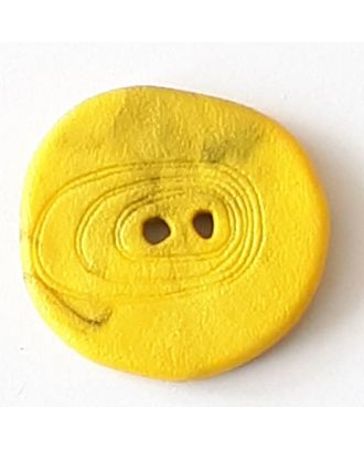 polyamide button with 2 holes - Size: 18mm - Color: yellow - Art.No. 288711