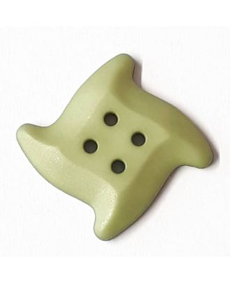 starfish button with 4 holes - Size: 32mm - Color: gentle/light green - Art.No. 372821