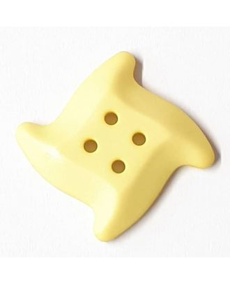 starfish button with 4 holes - Size: 32mm - Color: yellow - Art.No. 372825