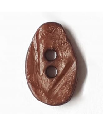 melon seed button with 2 holes - Size: 10mm - Color: brown - Art.No. 211788