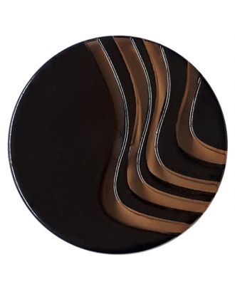 acrylic glass  button with shank - Size: 20mm - Color: brown - Art.No. 332839