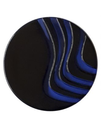 acrylic glass  button with shank - Size: 20mm - Color: royal blue - Art.No. 332840