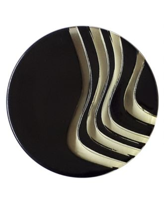 acrylic glass  button with shank - Size: 20mm - Color: yellow - Art.No. 332844