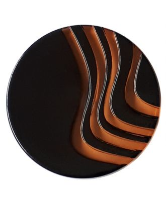 acrylic glass  button with shank - Size: 20mm - Color: orange - Art.No. 332845
