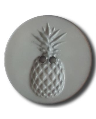 button with pinapple design 2 holes - Size: 28mm - Color: grey - Art.No. 332827
