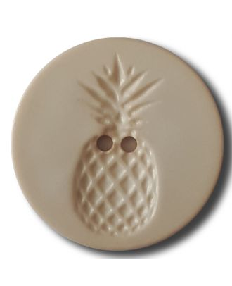 button with pinapple design 2 holes - Size: 23mm - Color: beige - Art.No. 282815