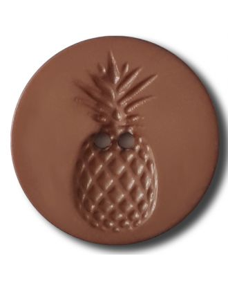 button with pinapple design 2 holes - Size: 18mm - Color: brown - Art.No. 242814