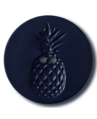 button with pinapple design 2 holes - Size: 28mm - Color: navy - Art.No. 332831