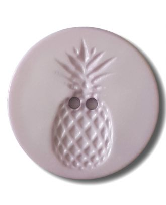 button with pinapple design 2 holes - Size: 28mm - Color: lilac/purple - Art.No. 332832