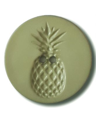 button with pinapple design 2 holes - Size: 28mm - Color: gentle/light green - Art.No. 332833