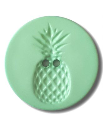 button with pinapple design 2 holes - Size: 28mm - Color: gentle/light green - Art.No. 332834