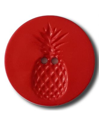 button with pinapple design 2 holes - Size: 28mm - Color: red - Art.No. 332836