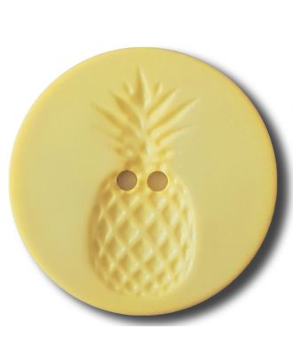 button with pinapple design 2 holes - Size: 28mm - Color: yellow - Art.No. 332837