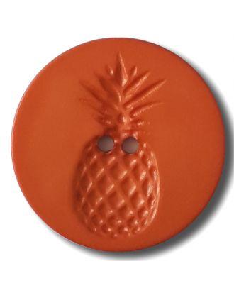 button with pinapple design 2 holes - Size: 23mm - Color: orange - Art.No. 282825