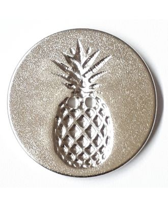 button with pinapple design 2 holes - Size: 23mm - Color: silver - Art.No. 290748