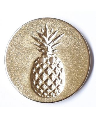 button with pinapple design 2 holes - Size: 28mm - Color: gold - Art.No. 360487
