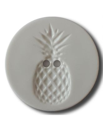 button with pinapple design 2 holes - Size: 28mm - Color: white - Art.No. 331151
