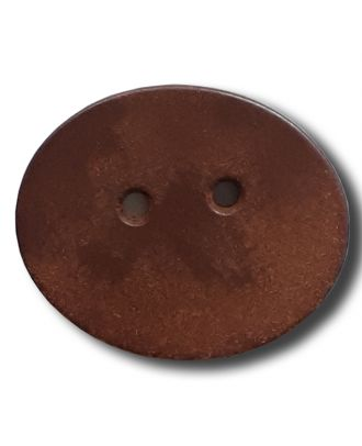 wood button with 2 holes - Size: 32mm - Color: brown - Art.No. 370820