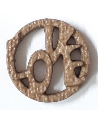 love button - Size: 20mm - Color: brown - Art.No. 282828