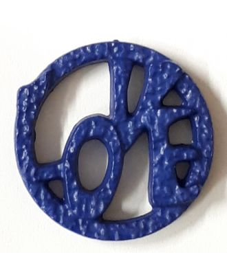 love button - Size: 20mm - Color: royal blue - Art.No. 282830